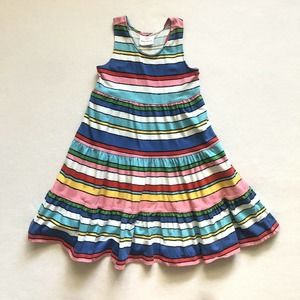 Hanna Andersson Multi-Color Stripe Twirl Dress 4